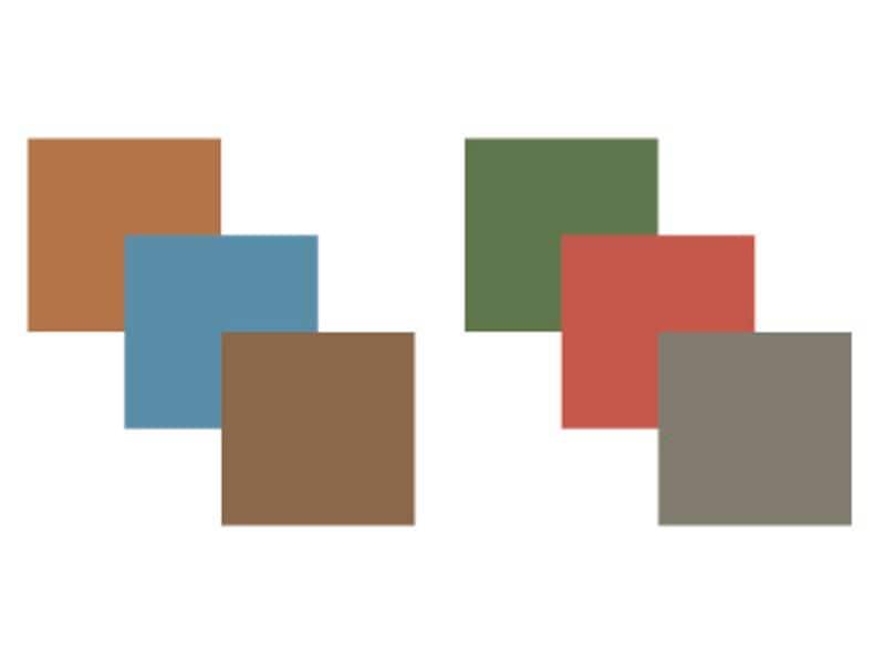グレイッシュトーンの配色例