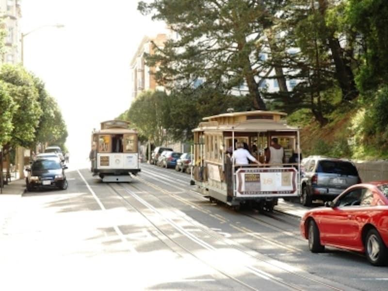坂の街サンフランシスコの強い味方はケーブルカー