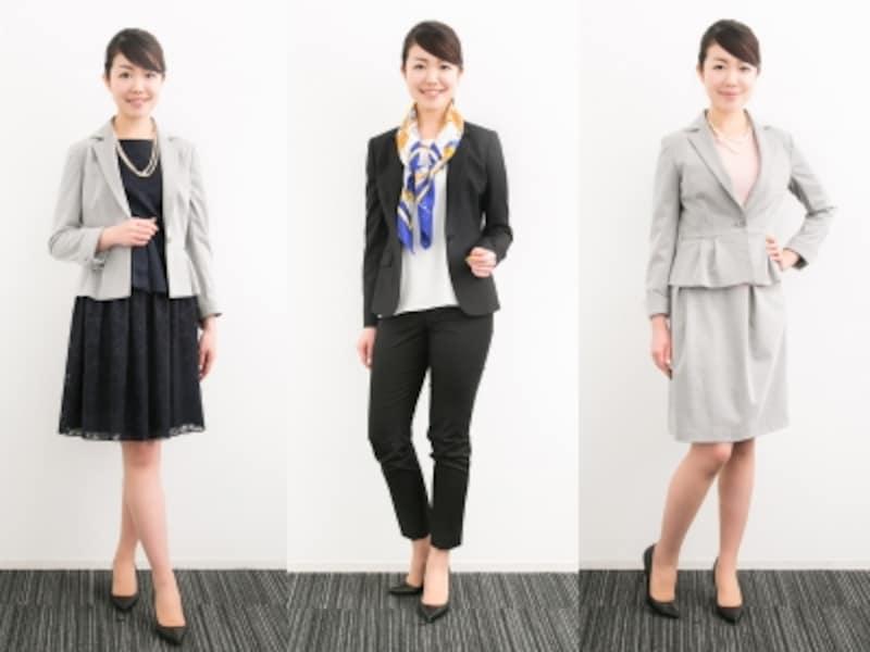 スーツ2枚を着こなしで印象チェンジ!
