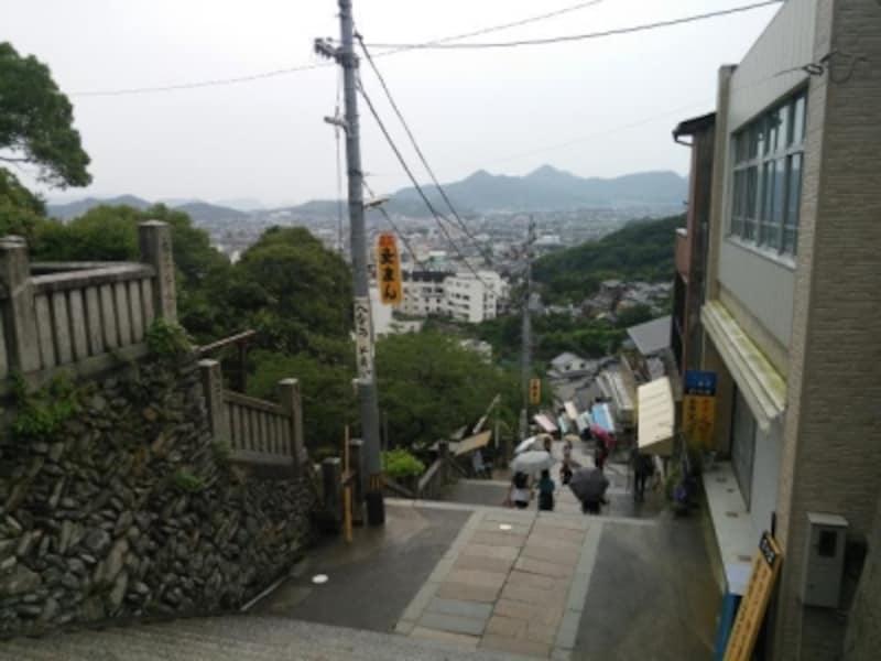 金刀比羅宮(5)/大門で振り返ると見える風景