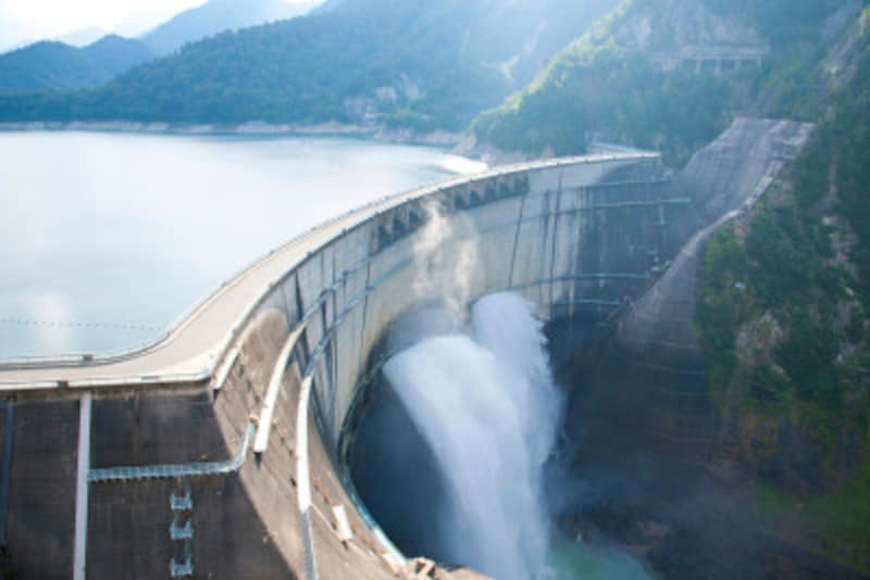 大分にある白水ダムとはどんなダムなのでしょうか(写真は黒部ダム)
