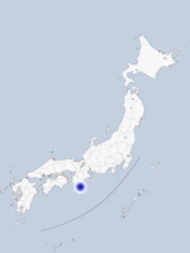 熊野那智大社と那智の滝の位置