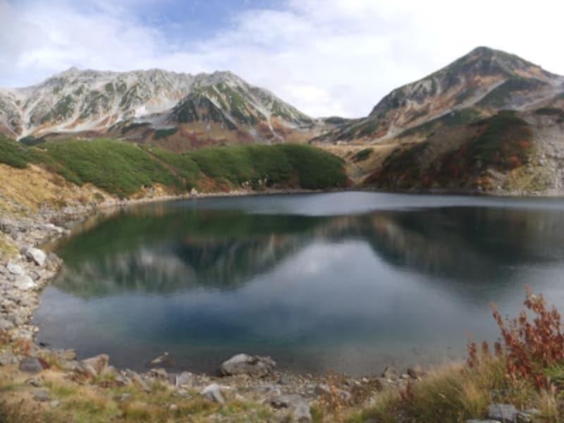 みくりが池から眺める立山連峰