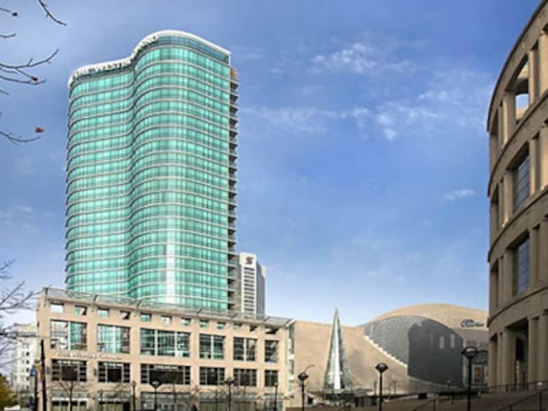 高級ホテルの雰囲気とアパートメントの便利さを兼ね備えたホテル。