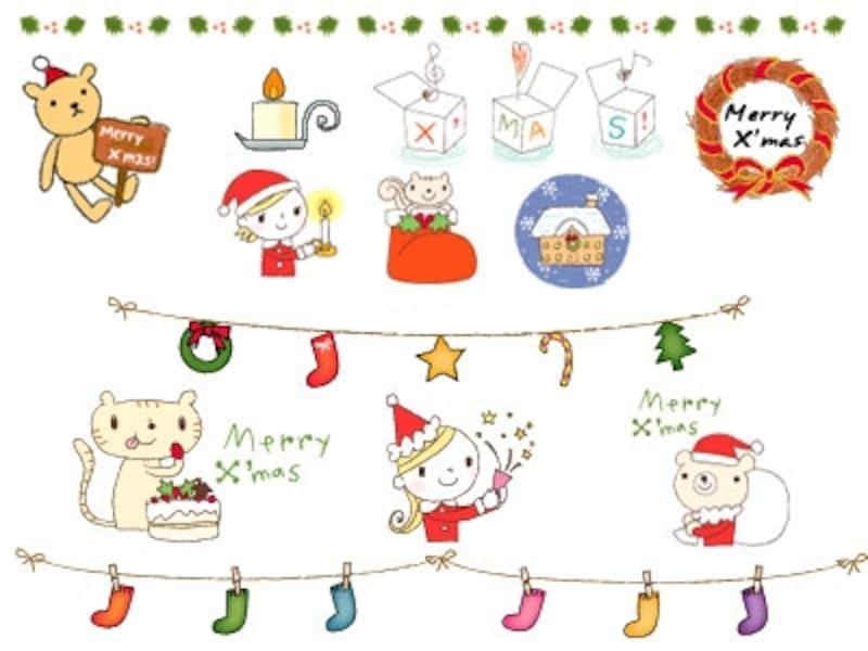 クリスマスのイラスト素材 Web素材 All About
