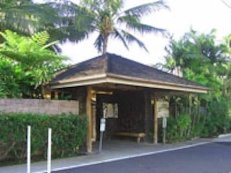 住宅街にある庭園レストラン