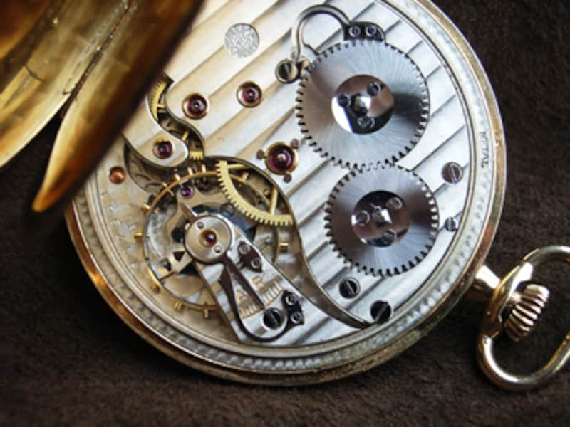機械式ムーブメント。戦前のIWC製懐中時計より