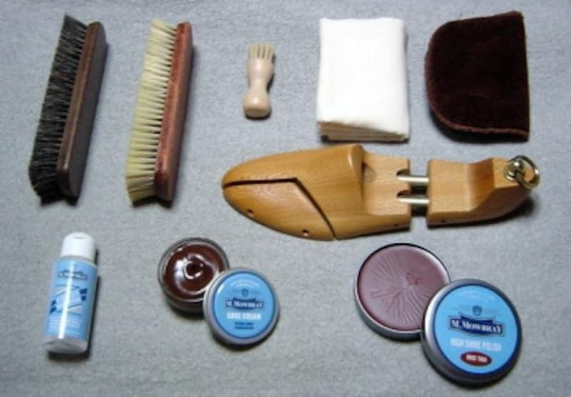 スムースレザー靴の手入れアイテム