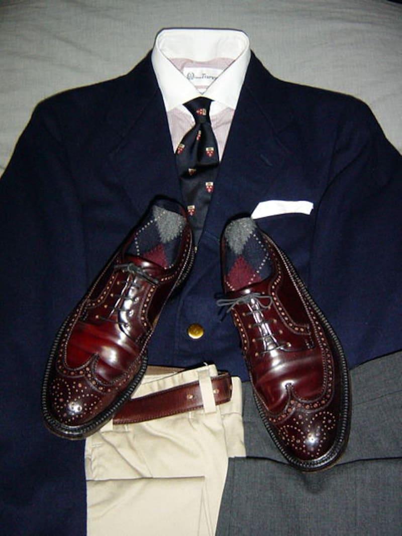 フルブローグの履き方の一例。その2