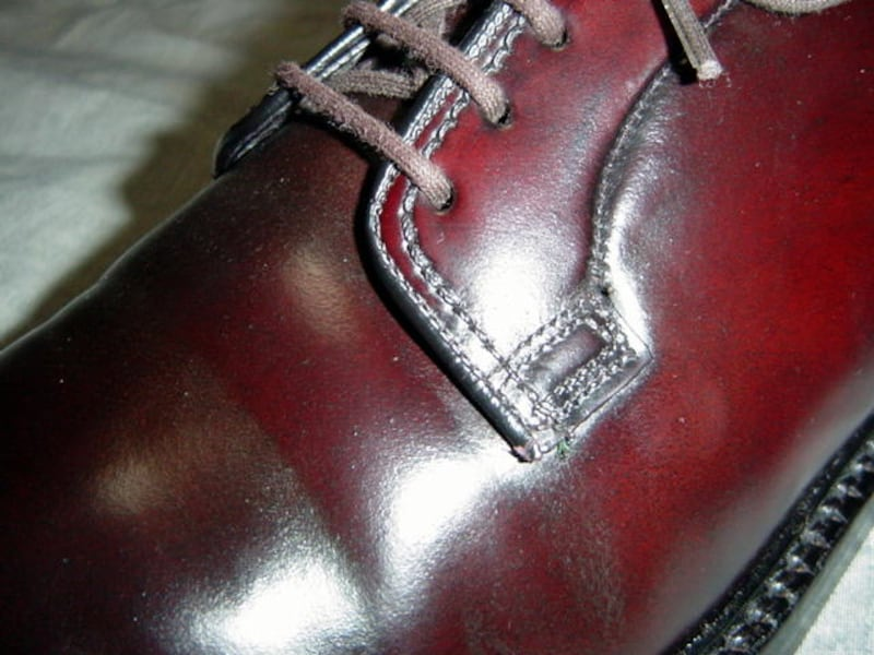 コードヴァンの靴の表面