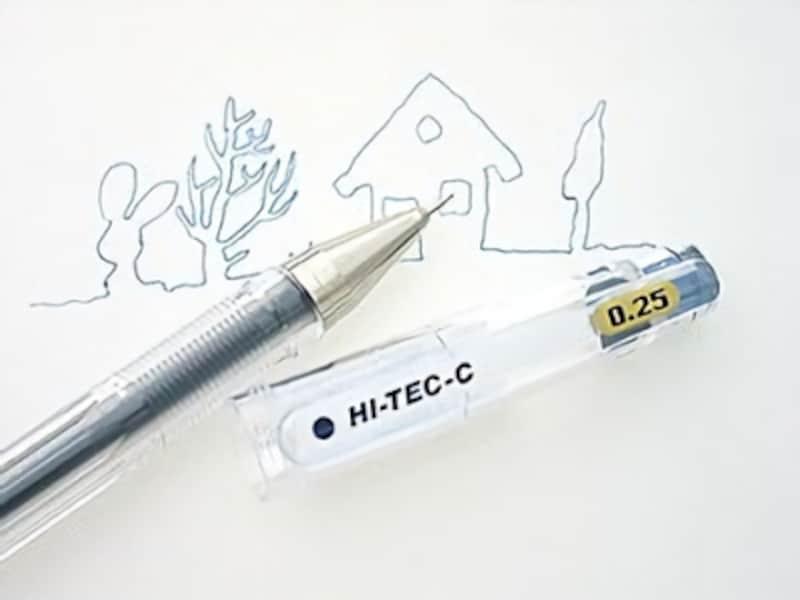 ハイテックCシリーズ最細の0.25mmで書いてみました