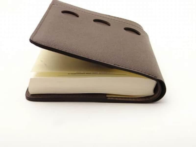 cyproduct『クオバディスカバー ビジネス』11,200円(税込)ほぼ日手帳を入れたところ。ギリギリ入るといった感じ。クオバディスの『プレーン』なら余裕で収納