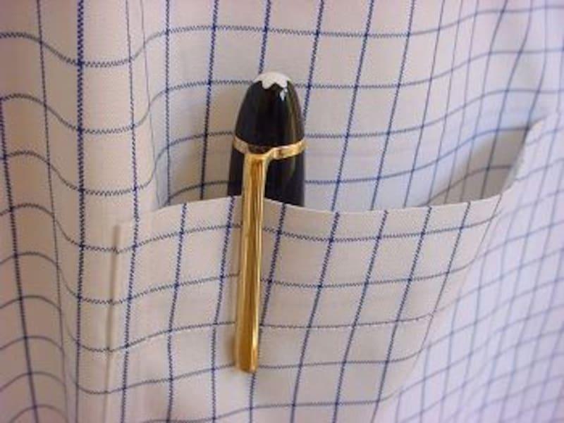 モンブラン マイスターシュテュック146とチェックシャツ