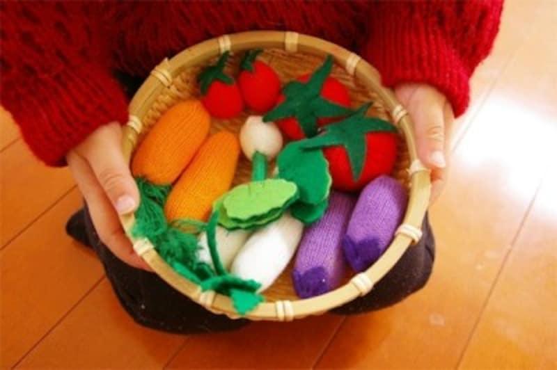 手作りおもちゃカラー軍手で作る野菜