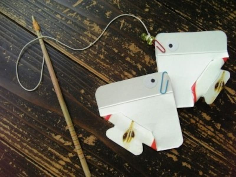 手作りおもちゃ磁石でくっつく魚つり