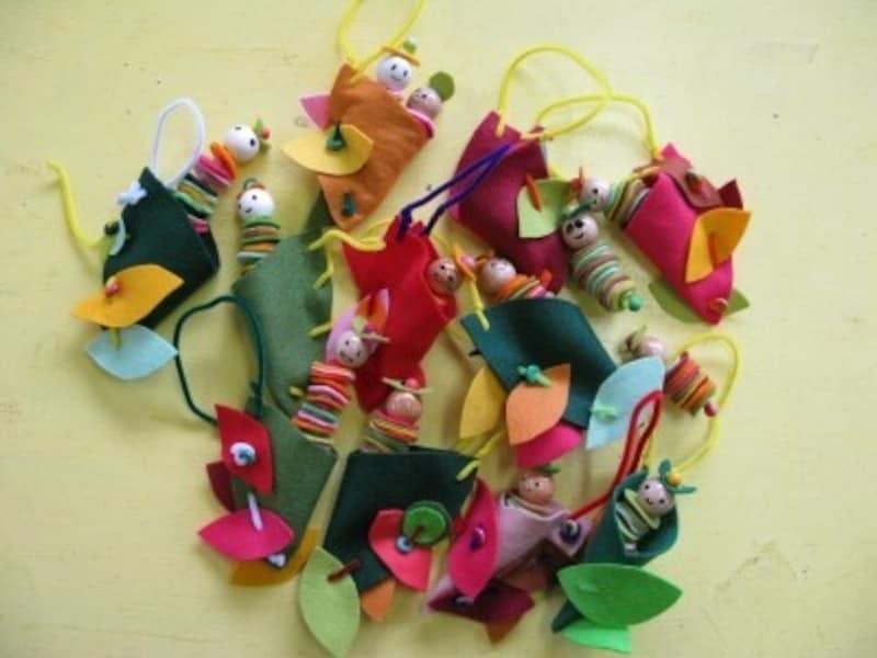 手作りおもちゃつないで遊ぶおもちゃ