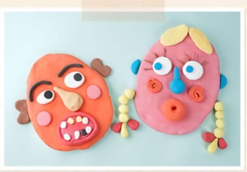 手作りおもちゃ紙粘土福笑い
