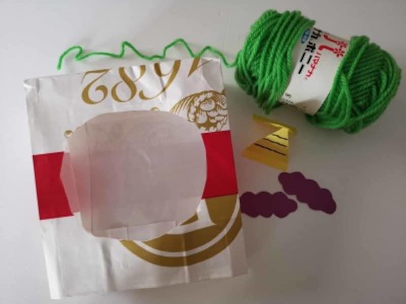 紙袋で鬼のお面を製作!乳児・1歳2歳3歳向け節分工作