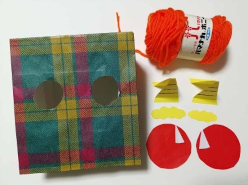 紙袋で鬼のお面を製作!乳児・4歳5歳6歳向け節分工作