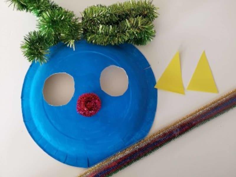 紙皿で鬼のお面を製作!4歳5歳6歳の幼児保育園や幼稚園の年少年中年長さん向け
