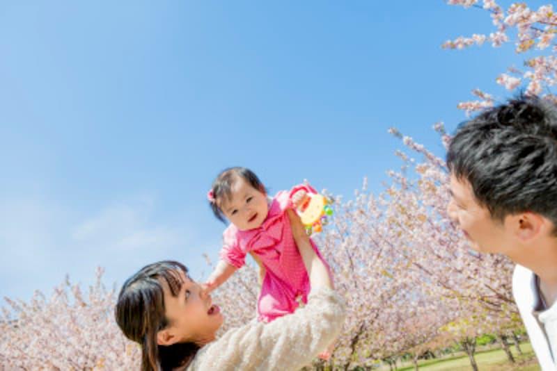 赤ちゃんや子供を連れた楽しいお花見!