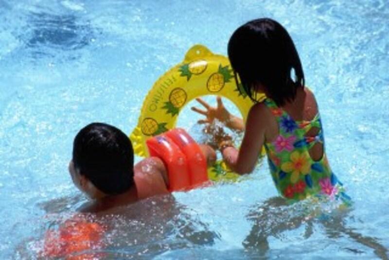 プール熱になると、プールには入れません