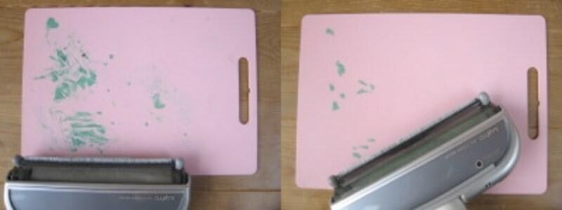 エアシスクイックルワイパーで粘土板1