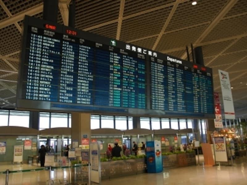 ワクワクする成田空港出発ターミナル