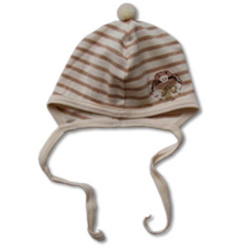 HAKKA BABY モグラ刺繍帽子