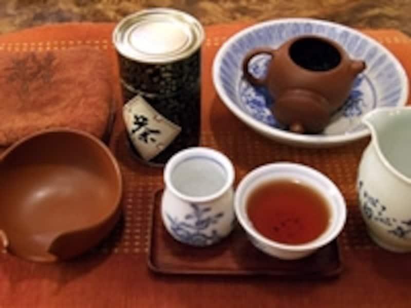 工夫茶のための茶道具一式