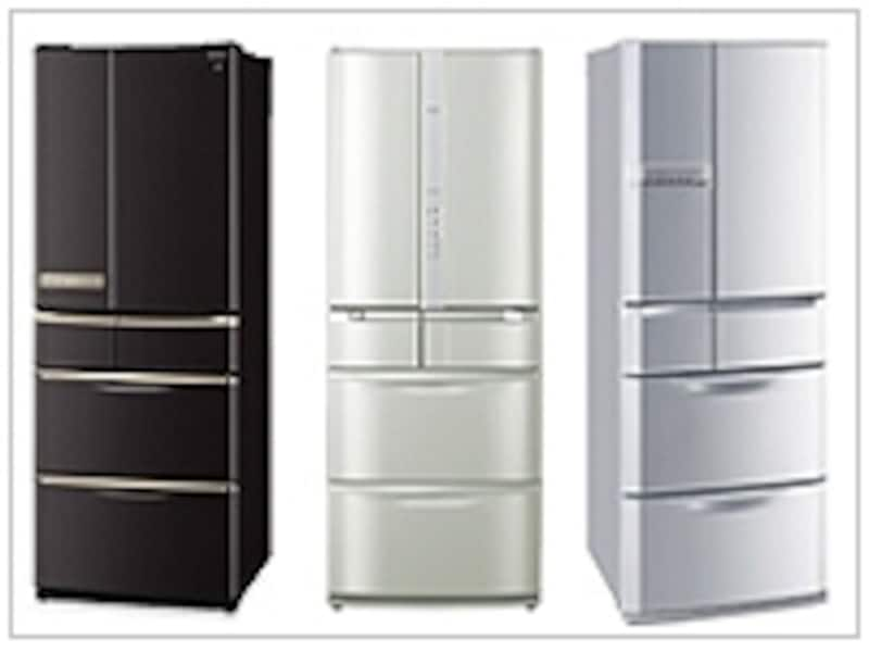 さらに省エネが進んだ2009年秋の新製品。超省エネ500L台の中から、注目の3機種をご紹介します。