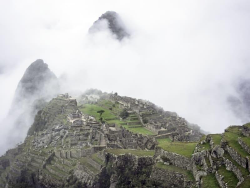 マチュピチュの霧の絶景
