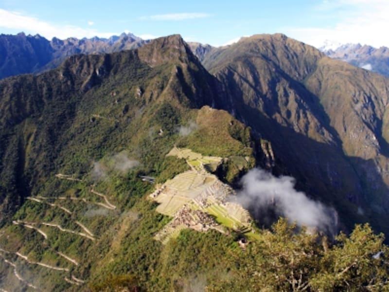 ワイナピチュ山頂から見たマチュピチュ