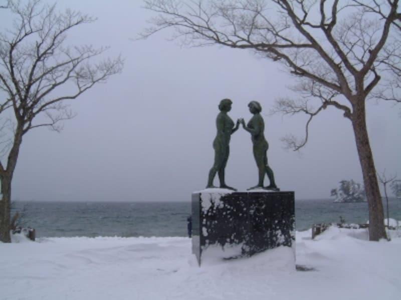 【青森】十和田湖・乙女の像