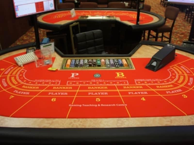 バカラのゲーミングテーブル(※デザインは施設により異なります)