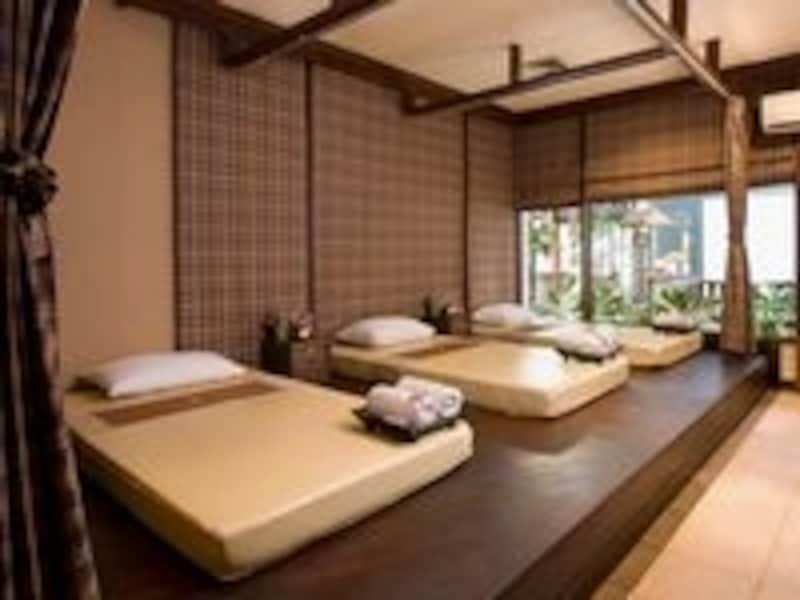 タイ古式マッサージ用の施術スペース。他個室も
