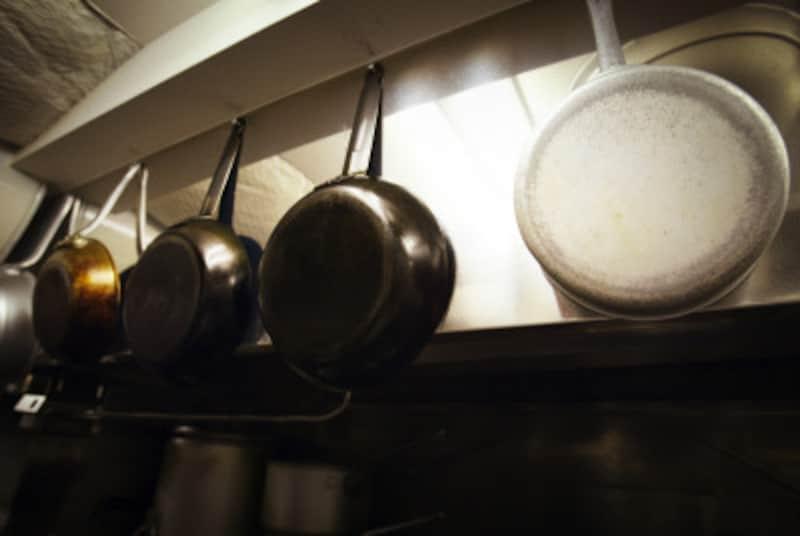 鍋の焦げ取り