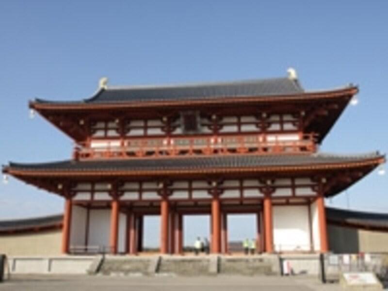 復元された朱雀門
