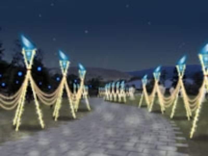 光が灯る「回廊」のイメージ