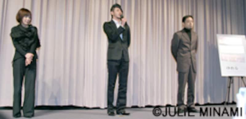 『ゆれる』オダギリジョー、香川照之、西川美和監督完成披露舞台挨拶