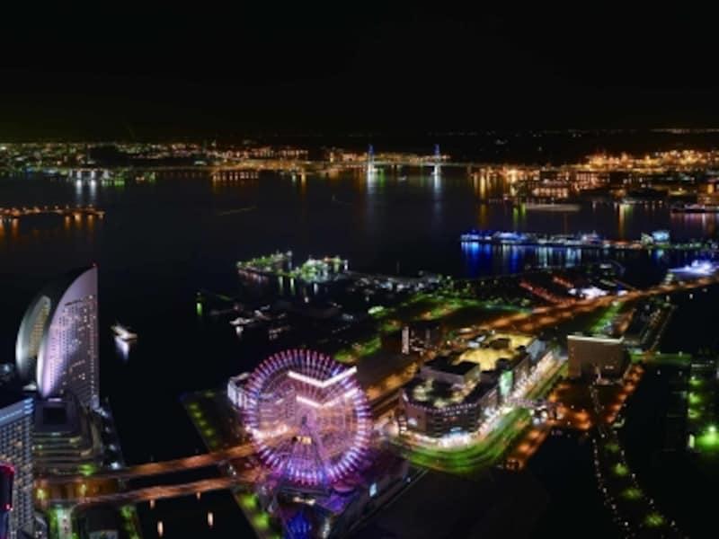 横浜を見下ろす展望台で新年を迎えましょう!※画像は夜景のイメージ(画像提供:ランドマークプラザ広報事務局)