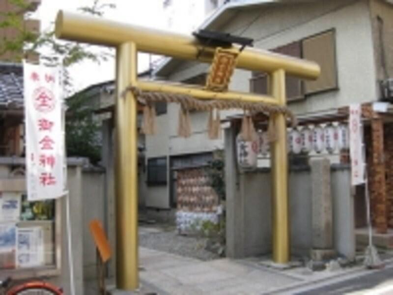 金運にご利益のある御金神社は、鳥居まで金色!