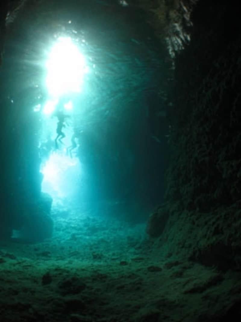 幻想的な世界へと誘ってくれる青の洞窟でのダイビング