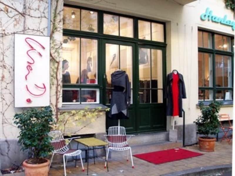 ベルリンのファッションブティックはシックで都会的なデザインがメイン