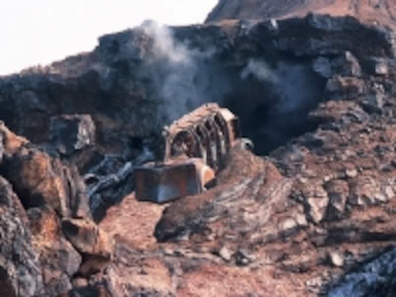 火山の中の地底世界から外に出る一瞬がある「センター・オブ・ジ・アース」