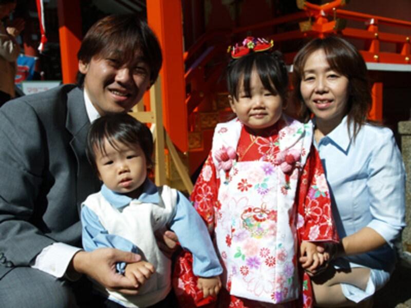 インフォーマル家族写真