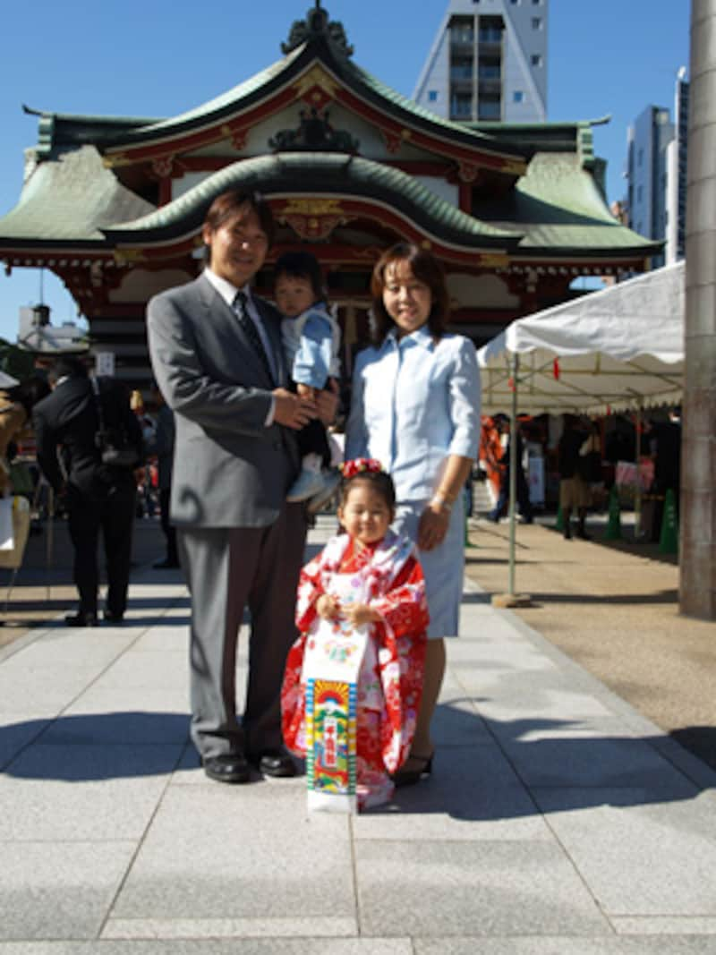 家族集合写真の基本形