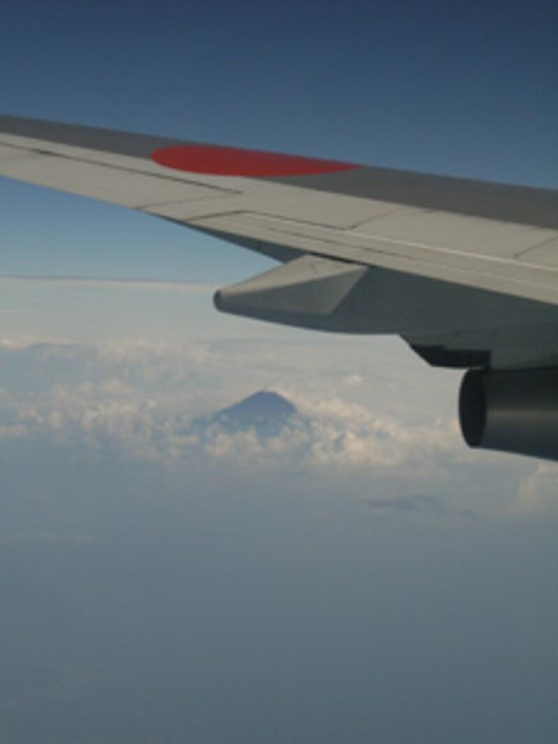 翼と富士山