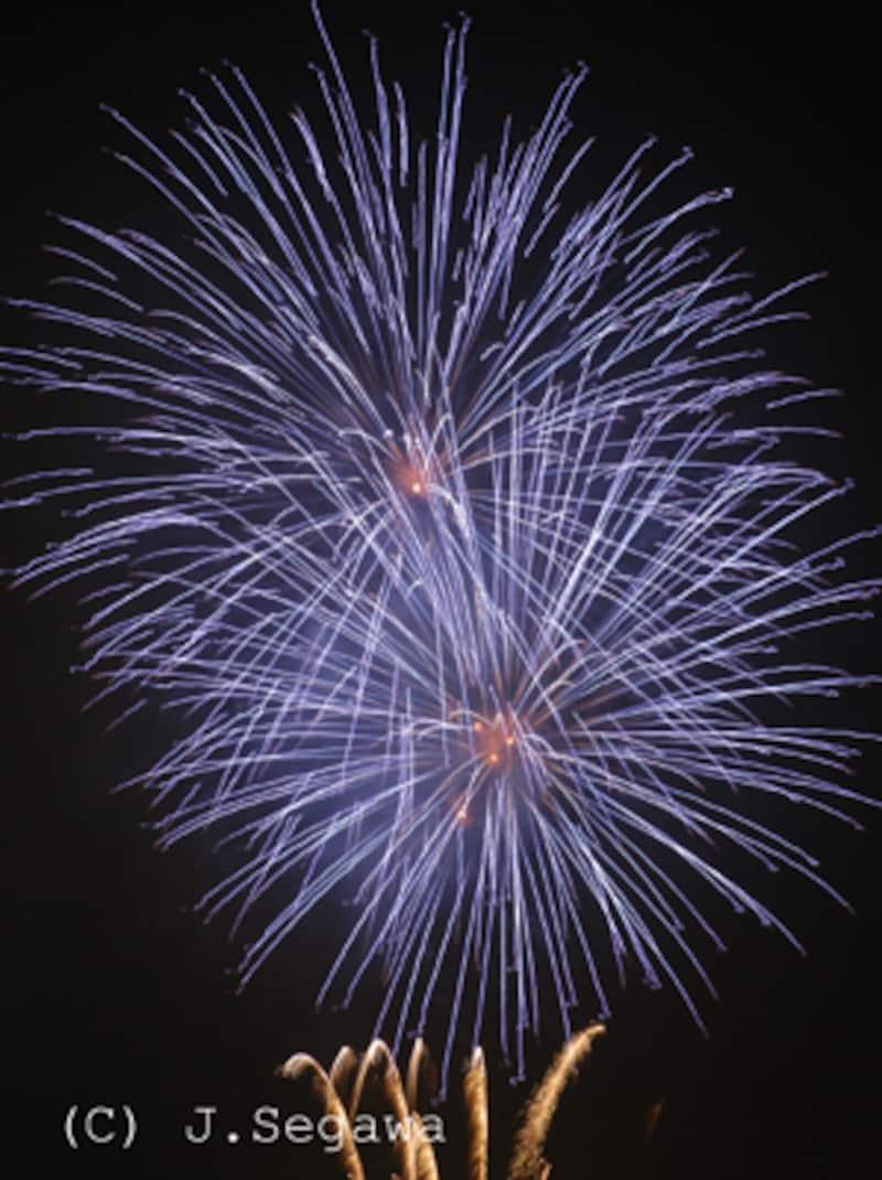 青色の花火