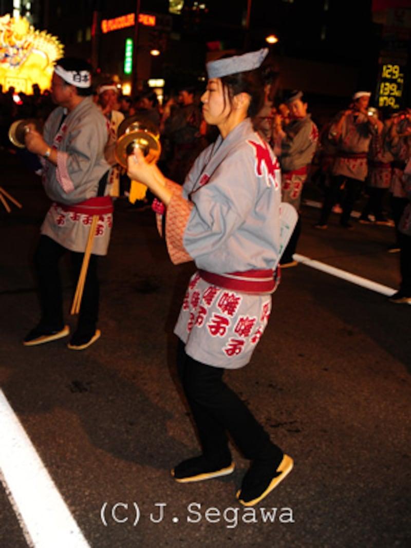 夜の祭り撮影